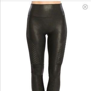 BNWOT Spanx faux leather Moto leggings